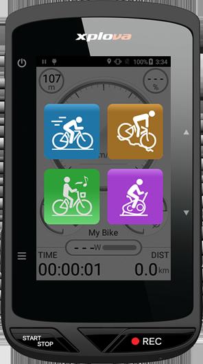 엑스플로바 (Xplova) X5 evo 속도계 + 자전거 블랙박스